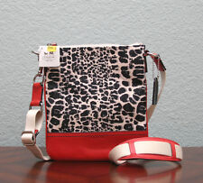 COACH Legacy Ocelot Print SWINGPACK Crossbody 48006 BLACK WHITE/CARNELIAN RED