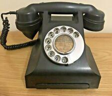 VINTAGE  Antique BAKELITE GPO 332F TELEPHONE 1940/50 black prop collectable