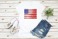 Take Me Out To The Ball Game Baseball Flag T-Shirt Tee Unisex Shirts - White