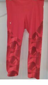 Under armour Womens Full length Leggings. Orange & Red Size Large