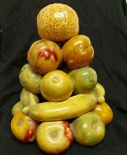 Vintage Ceramic Fruit Tower 70s 1970s table centrepiece retro. Made in Portugal