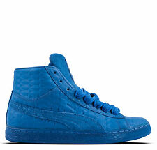 New Mens Puma Suede Mid ME Iced Shoe Style 361861-02 Size 7.5 Blue/White W11 rr