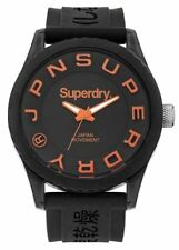 Superdry Mens Tokyo Correa de silicona Jelly negro Syg145b relojes