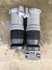 2 Hubbell Hbl4100cs2w Pin Sleeve Plugs 100a 250vdc 600vac 3p 4w