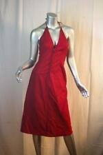 Womans MIU MIU Italy Gorgeous Red Cotton Hook Front Halter Dress Size 44 / 2
