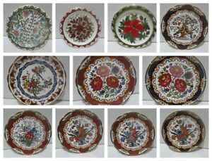 Vintage Ceramica Olympia Greece Handmade Plates 24K Gold
