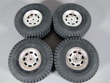 Rare New Set Tamiya RC 1/20 Mammoth 58268 Dump Truck Original Wheel Rims Tires