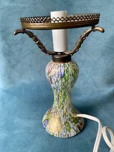 Murano Glass Lamp- MILLEFIORI 1990's NICE! Boudoir! Accent lamp! Venetian- Cute!