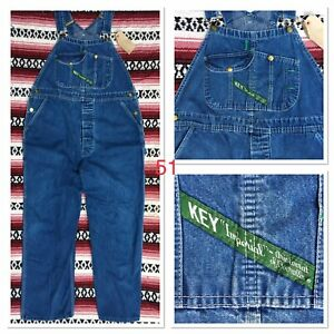"""38"""" (FITS 36"""") VINTAGE USA IMPORTED KEY DUNGAREES ROCKABILLY WORKWEAR HOT ROD"""