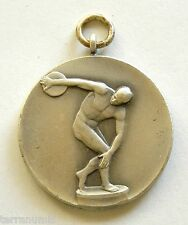 h085 Greece Discobolus Olympic Championship Award Sports Naked Man gilt medal
