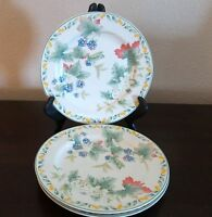 Julie Pople Country Fruit Collection Salad Plates x3 Fruits,Green Trim