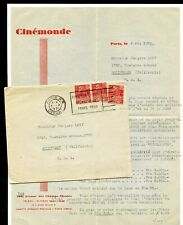 France 1931 AIRMAIL COVER CINEMONDE MOVIE MAGAZINE w/LETTER > JACQUES LORY U.S.