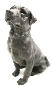 Cold Cast Effect Heavy Artistic Styled Sculpted LABRADOR DOG Ornament - W28