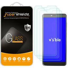 [3-Pack] Supershieldz Tempered Glass Screen Protector for ZTE Visible R2