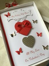 Handmade Personalised Birthday Anniversary Card Boxed Ruby Wife Husband Mum Dad