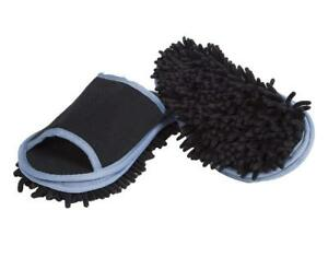 Slipper Microfiber Mopping Shoes Cleaning Tool Size 6 - 10 BLACK - 1 Pair