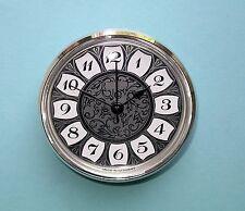 Reloj de cuarzo Mega-Bisel 85mm de Cuarzo con dial de plata retro árabe Insertar