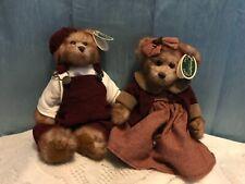 """Bearington Bears """"Spencer & Tracy """"Htf w/tags.2 Bears/set~Rare!"""