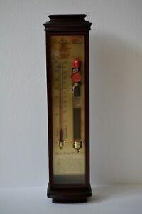 Admiral FitzRoy Sturmglas-Barometer HOLZ Sturmbarometer Thermometer °C