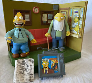 the simpsons retirement castle jasper Abe Simpson action figure playset Toy 2002