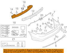 FORD OEM Rear Bumper-Impact Bar Reinforcement Beam Support Rebar AE5Z17906A