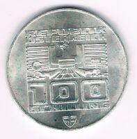 ÖSTERREICH 100 SCHILLING 1976 OLYMPIA INNSBRUCK STADTTURM HALL WIEN