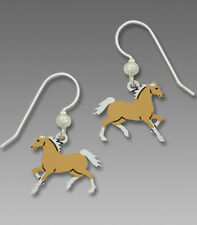Sienna Sky Palomino HORSE EARRINGS STERLING Silver Dangle Brown - Gift Boxed