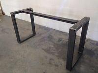 Metal Table Legs Steel Dining / Coffee Table / Bench Custom Sizes available