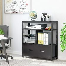 Modern Lateral File Cabinet With Letter Size Drawer Amp Metal Panel Filing Cabinet