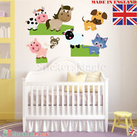 Farm Animal Pig Cow Sheep Nursery Kids Baby Boy Girl Wall Stickers Decal Décor