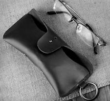 men women Eyeglass Cases sunglasses bag holder cow Leather Customize black z323