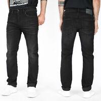 Diesel Mens Regular Slim Fit Stretch Jeans - Vintage Black - Buster R9B60