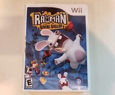RAYMAN RAVING RABBIDS Wii Complete CIB w/ Box, Manual Very Good A++ FREE SHIP