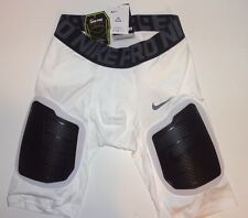 Nike Pro Combat Impact Dri Fit Padded Compression Shorts - Men's Size S White