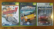 Xbox 3 Racing Game Lot - Burnout 3, Need For Speed Hot Pursuit 2, Project Gotham
