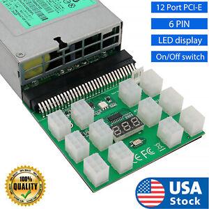 6PIN 1200W Breakout Board for HP DPS-1200QB A PSU GPU Mining Server Power Supply