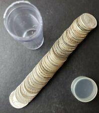 Tube of 40 25c Washington Silver Quarter Dollars