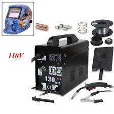 MIG-130 Flux Core Wire Welder Machine + Welding Helmet + 110/220V Dual Voltage