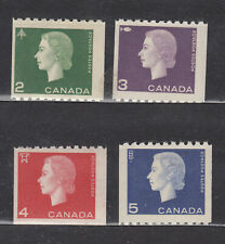 1962 #406-#409  QUEEN ELIZABETH II 2¢-5¢ CAMEO ISSUE COILS  F-VFNH COMPLETE SET