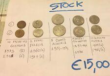 STOCK/LOTTO DI 10 MONETE MONDIALI