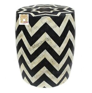 Bone Inlay Stool Home Decor Furniture Side Table lamp table night stand  Decor 0