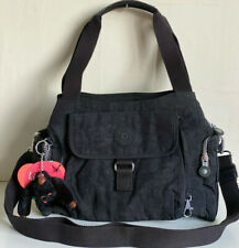NEW! KIPLING FAIRFAX BLACK LARGE CROSSBODY SLING SHOULDER BAG PURSE