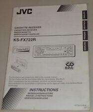 Manuale di istruzioni/operating instructions JVC autoradio ks-fx722r