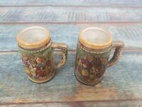 Vintage Bavarian Mini Drinking Jugs Ornament 8cm Tall