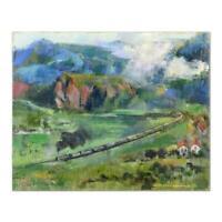 "Alex Zwarenstein, ""The Tour"" Original Oil Painting on Canvas Hand Signed COA"