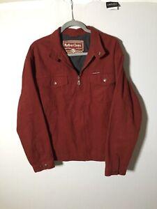 Marlboro Classics Vintage Mens Burgundy Harrington Jacket Size L Cotton