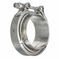 """8/"""" Tri Clamp Stainless Ferrule Spool Clamp with 1//2/"""" Mount Screw support HFS R"""