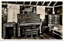 Interior of Paper House Made of Newspapers Pigeon Cove Massachusetts Postcard