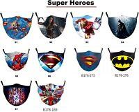 Superman, Spiderman, Batman, Avengers, Wonder woman Face mask