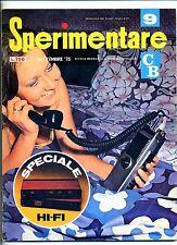 SPERIMENTARE # N.9 Settembre 1975 # Rivista Mensile Elettronica Elettrotecnica